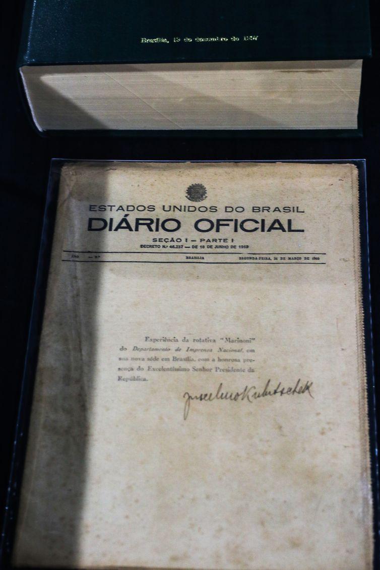 Primeiro Diário Oficial impresso em Brasília