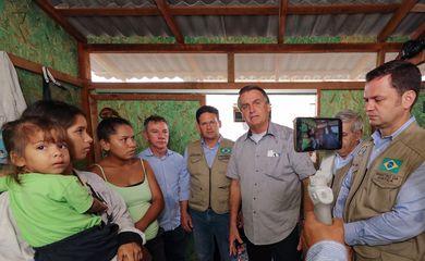 (Boa Vista - RR, 26/10/2021) Visita ao acampamento da Operação Acolhida Randon 4. Foto: Isac Nóbrega/PR