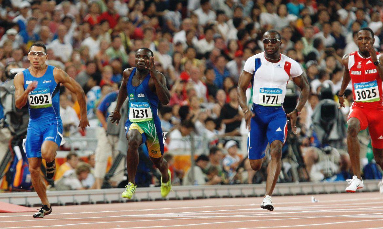 PEQUIM / CHINA - (15/08/2008) - XXIX Jogos Olímpicos de Beijing 2008 - Competição de Atletismo, realizada no Estádio Nacional de Beijing, conhecido como Ninho de Pássaro. Na foto, o atleta brasileiro José Carlos Moreira (1231), durante a prova