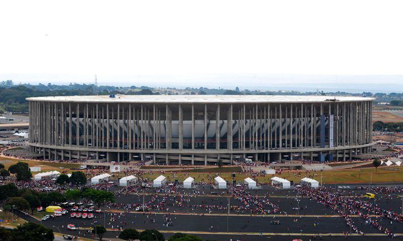 Vista da área externa do Estádio Nacional de Brasília Mané Garrincha. Foto: Elza Fiúza/Agência Brasil