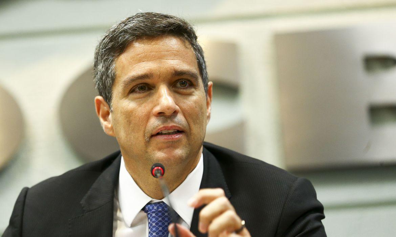 O presidente do Banco Central, Roberto Campos Neto, participa de evento promovido pela Organização das Cooperativas Brasileiras (OCB), na Casa do Cooperativismo, em Brasília.