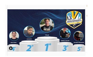 pódio da competição,edição virtual da Semana de Vela