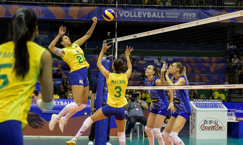 seleção brasileira feminina de vôlei x Rússia - Liga das Nações - 23/05/2019