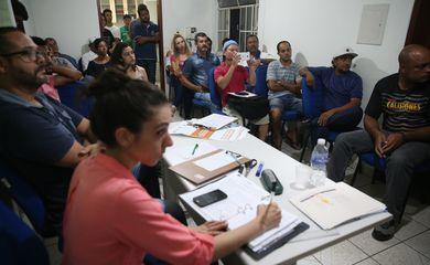 Mariana (MG) - Reunião de membros da Comissão de Atingidos com moradores de Paracatu, dois anos após a tragédia do rompimento da Barragem de Fundão, da mineradora Samarco (José Cruz/Agência Brasil)