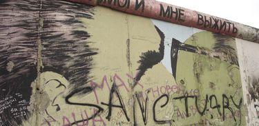 Trecho preservado do Muro de Berlim