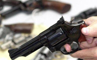 arma de fogo recolhida na Campanha do Desarmamento