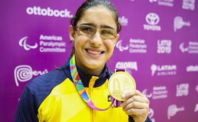 Giulia Pereira, do judô, conquistou a primeira medalha de ouro do Brasil no Parapan 2019