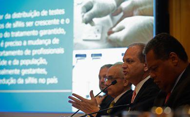 Brasília - O ministro da Saúde, Ricardo Barros, anuncia ações para conter avanço da sífilis no país (Marcello Casal Jr/Agência Brasil)