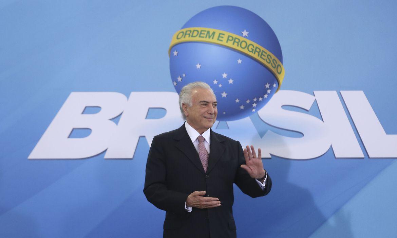 Brasília - O presidente Michel Temer participa da Cerimônia de Lançamento do Programa Nacional de Regularização Fundiária (Valter Campanato/Agência Brasil)