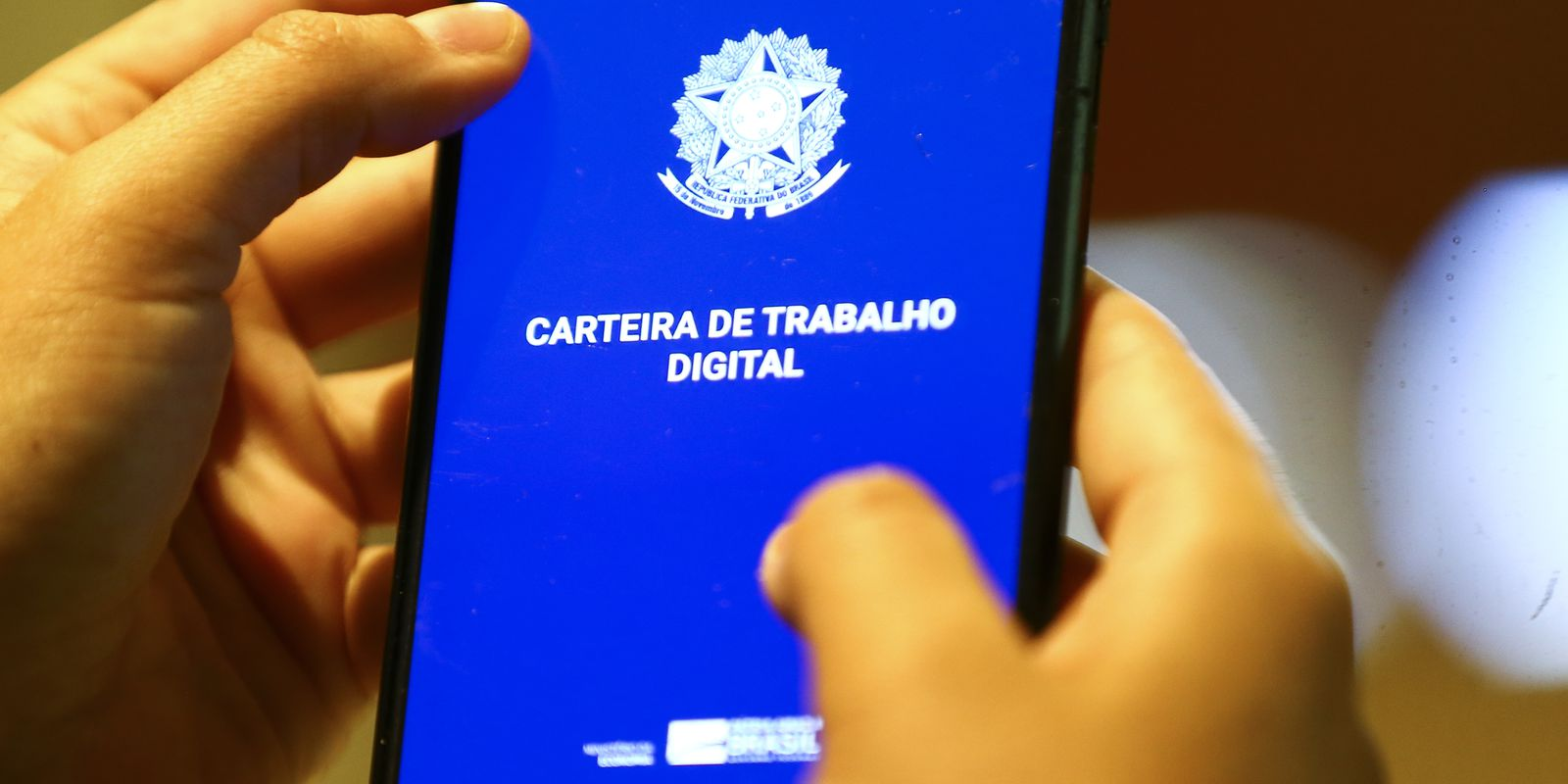 Carteira de trabalho digital.