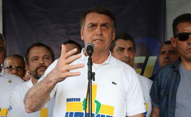 O presidente Jair Bolsonaro durante a 27ª edição da Marcha para Jesus, em São Paulo.