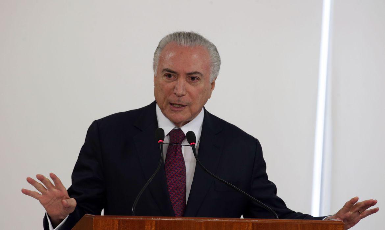 Brasília - Presidente Michel Temer discursa na cerimônia de abertura da segunda fase do processo seletivo Avançar Cidades - Saneamento (Antônio Cruz/Agência Brasil)