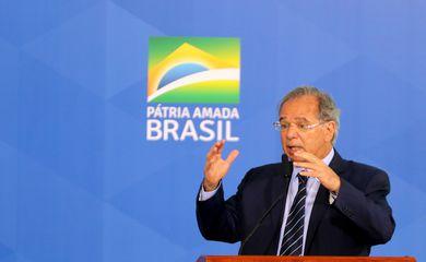 O ministro da Economia, Paulo Guedes, participa de cerimônia de Lançamento das Autorizações Ferroviárias - Setembro Ferroviário.