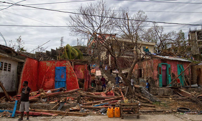 Área devastada no Haiti, após a passagem do furacão Matthew - Foto Logan Abassi/Minustah