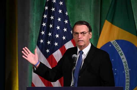 O presidente da República, Jair Bolsonaro, participa de reunião Brasil-EUA, Fórum do Conselho Empresarial, para discutir relações e cooperação e engajamento futuros, em Washington, EUA.