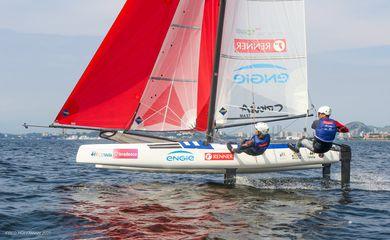 Samuel Albrecht e Gabriela Nicolino,velejadores olímpicos da Nacra 17